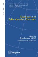 Codification of Administrative Procedure