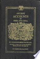 Ancient Accounts of India and China