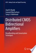 Distributed CMOS Bidirectional Amplifiers