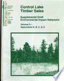 Tongass National Forest  N F    Control Lake Timber Sale  Prince of Wales Island Book