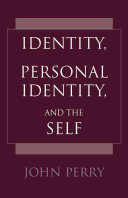 Identity  Personal Identity  and the Self