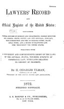 Lawyers  Record and Official Register of the United States
