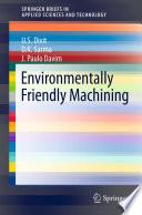 Environmentally Friendly Machining Book