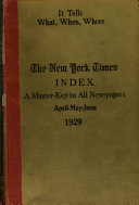The New York Times Index Book