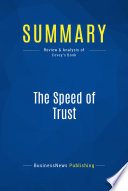 Summary The Speed Of Trust
