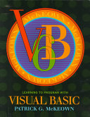 Cover of Learning to Program with Visual Basic