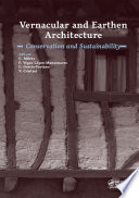 Vernacular and Earthen Architecture  Conservation and Sustainability Book