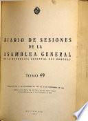 Diario de sesiones de la Asamblea General de la Republica Oriental del Uruguay