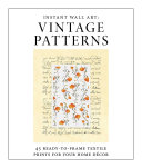 Instant Wall Art   Vintage Patterns