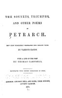 The Sonnets  Triumphs  and Other Poems of Petrarch