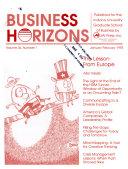 Business Horizons
