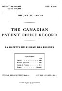Canadian Patent Office Record Book