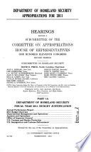 Department of Homeland Security Appropriations for 2011  Part 1A  111 2 Hearings