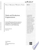 Trade And Production Fragmentation