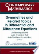 Symmetries and Related Topics in Differential and Difference Equations  : Jairo Charris Seminar 2009, Escuela de Matemáticas, Universidad Sergio Arboleda, Bogotá, Colombia