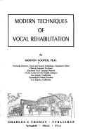 Modern Techniques of Vocal Rehabilitation Book