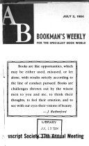 AB Bookman s Weekly Book