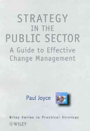Strategy In The Public Sector Book PDF