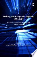 Writing And Religion In England 1558 1689