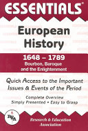 The Essentials of European History: 1648 to 1789, Bourbon, Baroque, and the Enlightenment
