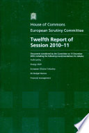 Twelfth Report Of Session 2010 11