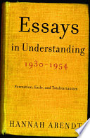 Essays in Understanding  1930 1954 Book PDF