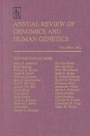 Annual Review of Genomics and Human Genetics
