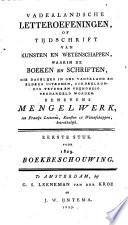 Vaderlandsche Letter Oefeningen Of Tijdschrift Van Kunsten En Wetenschappen