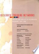 Research Training Networks, 1995-1996