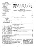 Journal of Milk and Food Technology