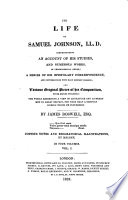 The Life Of Samuel Johnson Ll D Comprehending An Account Of His Studies And Numerous Works In Chronological Order