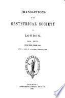 Transactions of the Obstetrical Society of London Book