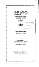 High School Reading List
