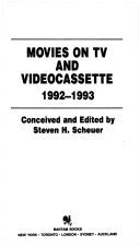 Movies on TV and Videocassette  1992 1993