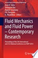 Fluid Mechanics and Fluid Power     Contemporary Research