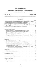 The Journal of Medical Laboratory Technology