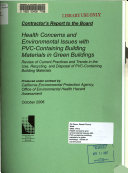 Health Concerns and Environmental Issues with PVC containing Building Materials in Green Buildings