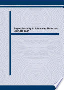 Superplasticity in Advanced Materials   ICSAM 2003