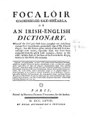 Focal  ir gaoidhilge sax bh  arla  or An Irish English dictionary