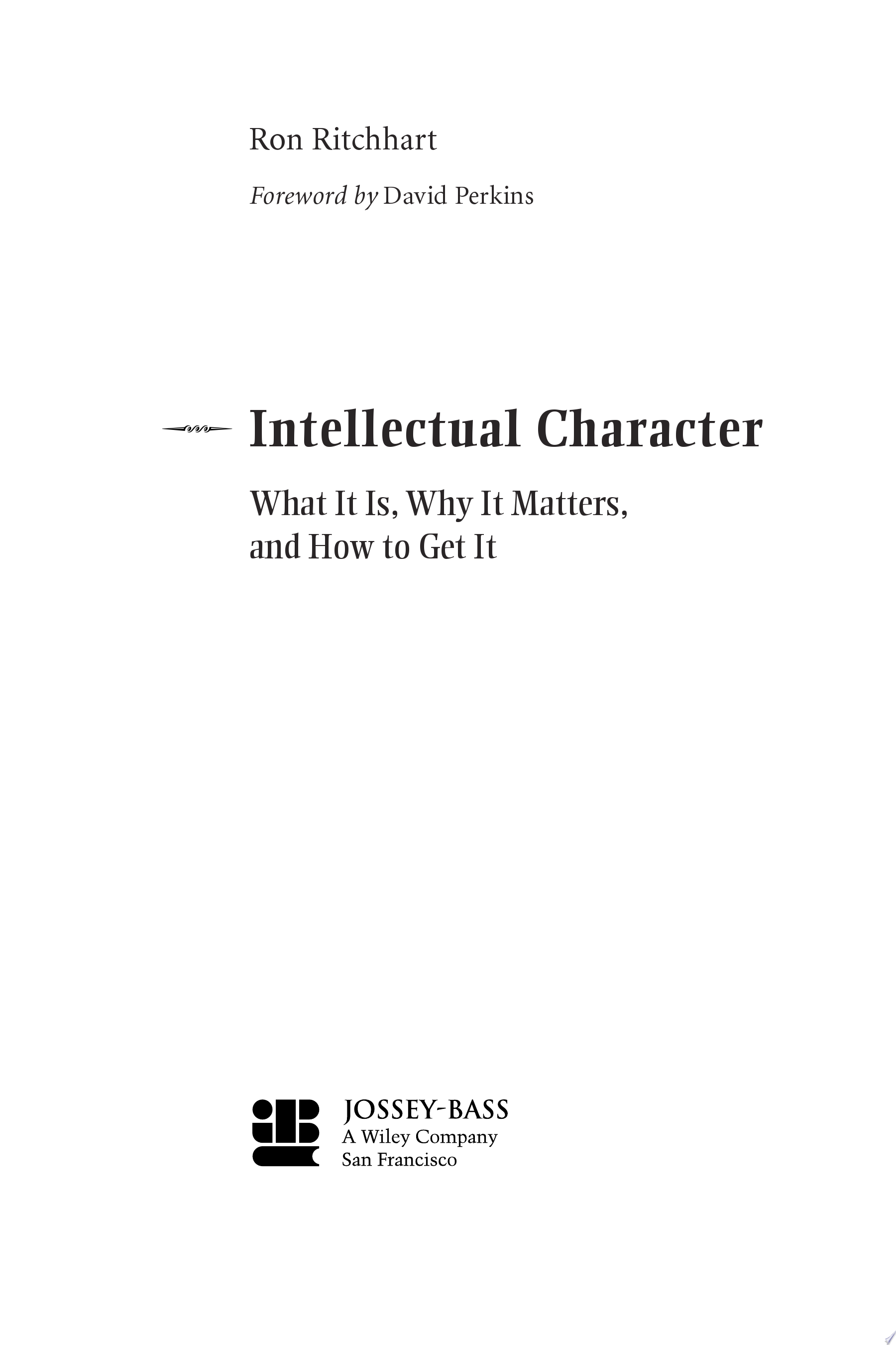 Intellectual Character