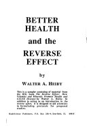 Better Health and the Reverse Effect