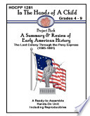 A summary   review of early american history Book PDF