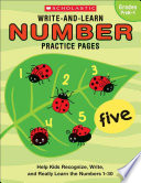 Write and Learn Number Practice Pages