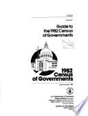 1982 Census Of Governments Guide To The 1982 Census Of Governments