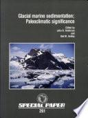 Glacial Marine Sedimentation Book PDF