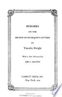 Remarks on the Review of Inchiquin's Letters