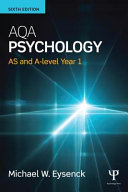 Cover of Aqa Psychology