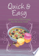 Easy Eats  Quick   Easy Book