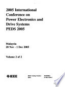 Proceedings of ... International Conference on Power Electronics and Drive Systems
