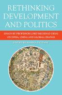 Rethinking Development and Politics Book